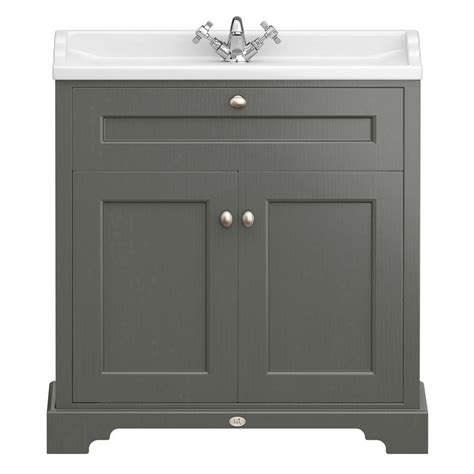 traditional bathroom vanity units downton traditional vanity unit 800mm wide charcoal
