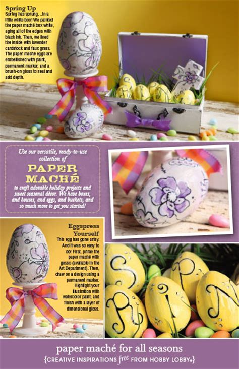 hobby lobby craft paper hobbylobby projects paper mache for all seasons