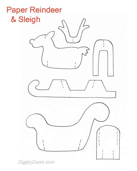 free paper craft patterns reindeer cut out patterns search results calendar 2015