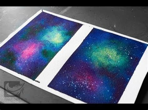 acrylic paint tutorial galaxy painting a galaxy watercolor with and without gloss