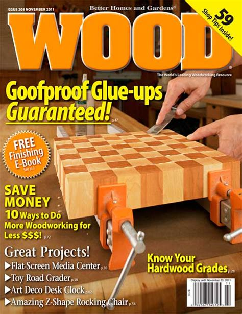 woodworking publications wood issue 208 november 2011 woodworking plan from wood