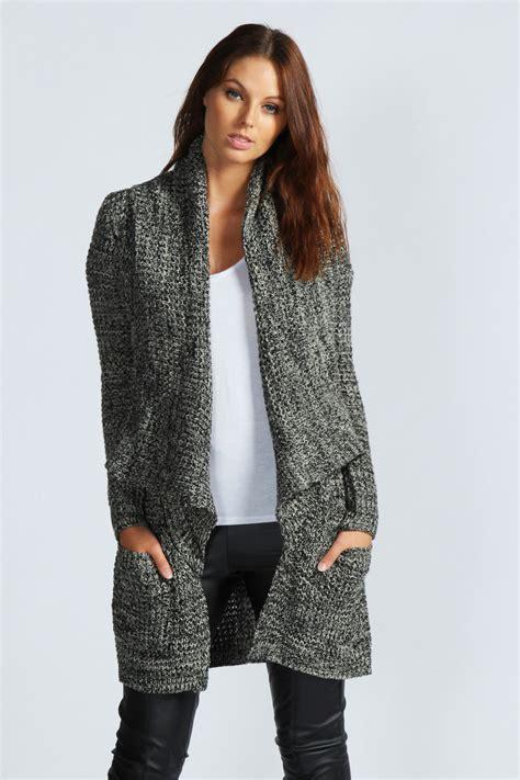 oversized knit cardigan boohoo aliah chunky marl knit oversized cardigan ebay