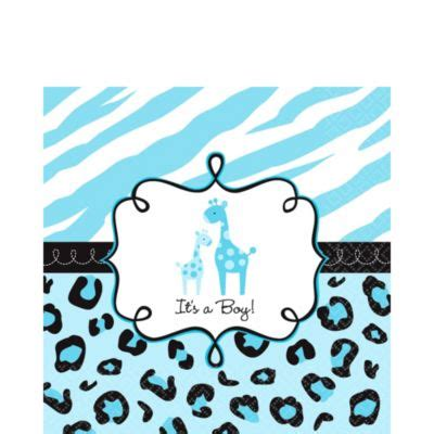 Safari Blue Baby Shower City by Blue Safari Baby Shower Lunch Napkins City