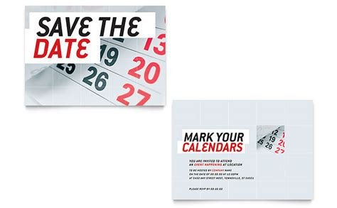 save the date announcement template word amp publisher