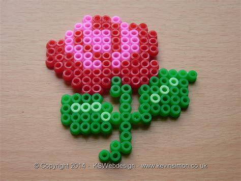 bead of roses floower hama bead small design ks