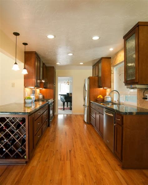 kitchens with recessed lighting galley kitchen recessed lighting placement