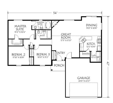 single story floor plans single story open floor plans single story plan 3