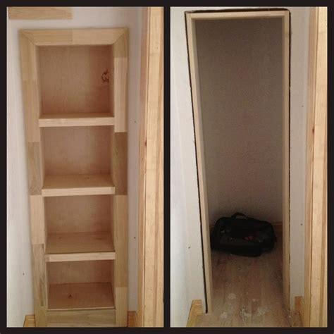 hideaway closet doors rolling bookshelf door conceals secret gun closet