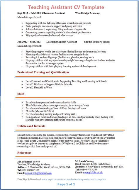 doc 550711 example resume sample resume for assistant
