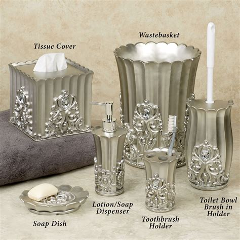 pewter bathroom accessories fatima pewter colored bath accessories