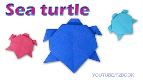 sea origami origami sea turtle paper animals turtle easy make