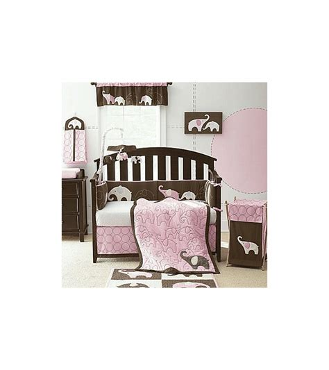 carters crib bedding sets s elephant pink 4 crib bedding set