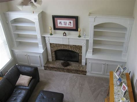 built in bookshelves diy built in bookcases around fireplace diy added built in