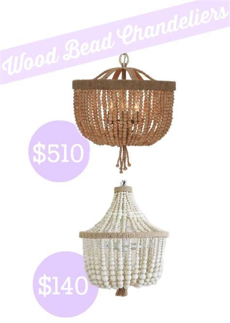 pottery barn beaded chandelier shades of light wood bead basket chandelier look alike