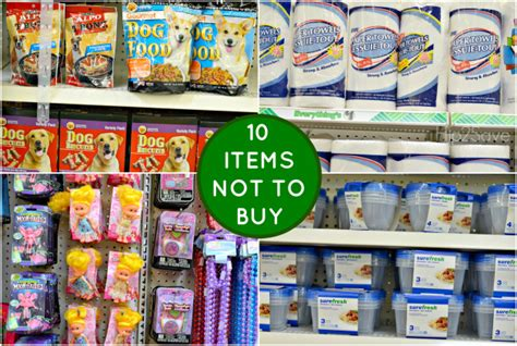 tree items 15 items to buy at dollar tree and 10 items not to buy at
