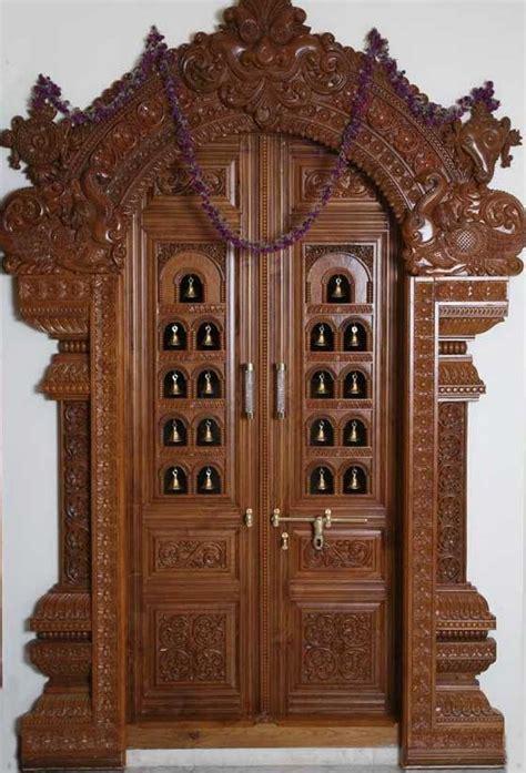 pooja room woodwork designs pooja room door frame and door design gallery