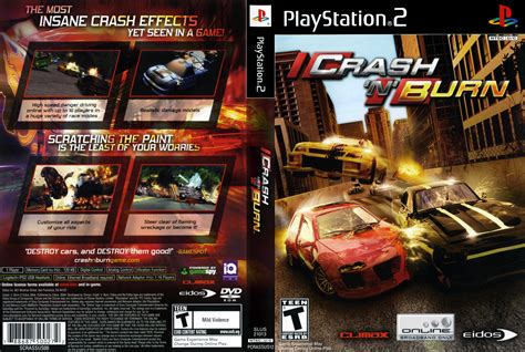 crash n burn crash n burn cover sony playstation 2 covers