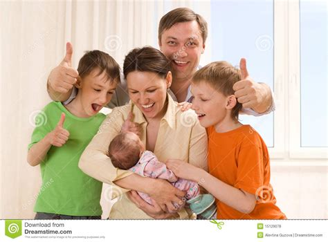 with children with three children royalty free stock photos