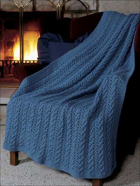 free knitting afghan patterns knitting cables eyelet lace afghan