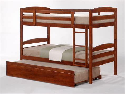 bunk beds with trundle cosmos oak stained king single bunk beds trundle