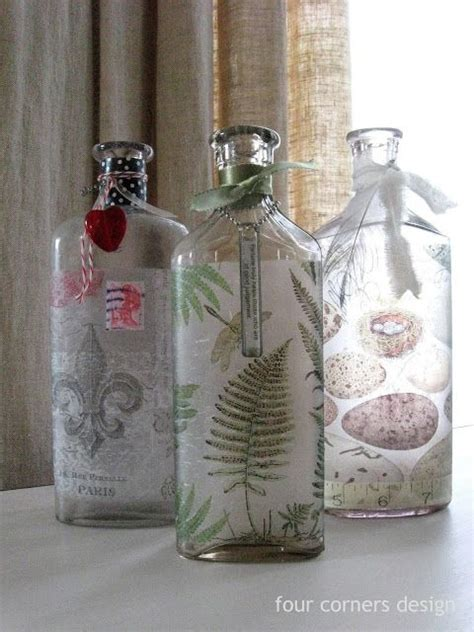 decoupage on glass bottles best 25 decoupage glass ideas only on