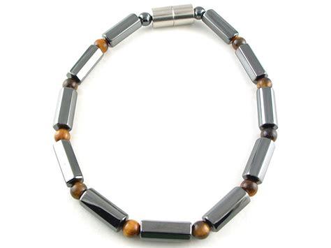 magnetic hematite hematite magnetic therapy bracelet tiger eye polygon duet