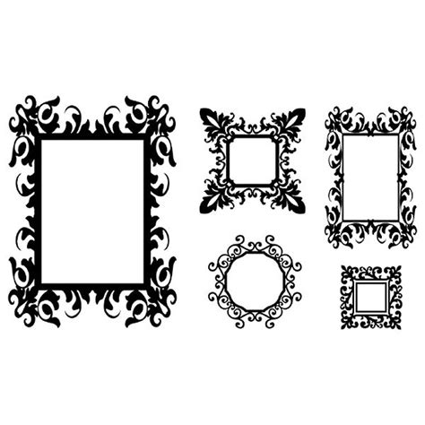 Photo Frame Wall Stickers antique frames wall sticker set vintage photo frame wall