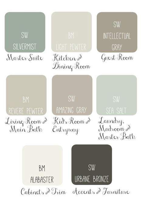 paint colors joanna gaines joanna gaines paint pallet interior design