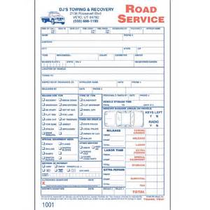 custom road service invoices 250 forms aw direct