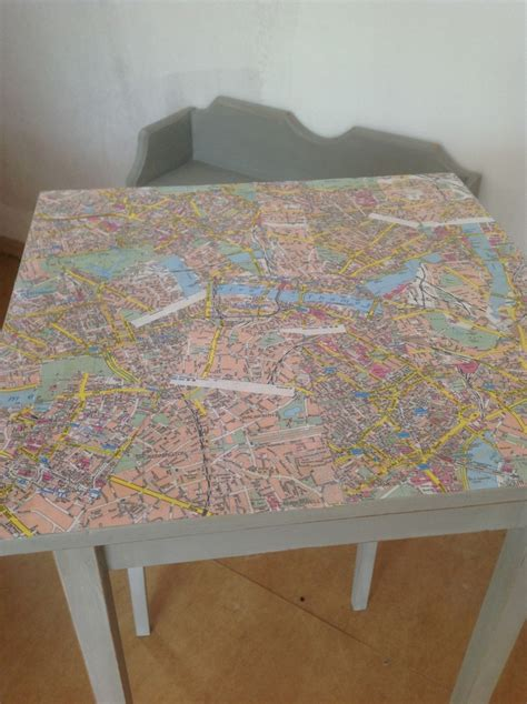 decoupage table top decoupage table top using maps finn s bakery cafe