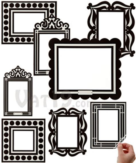 frame wall sticker stick r frames removable and reusable sticker picture frames