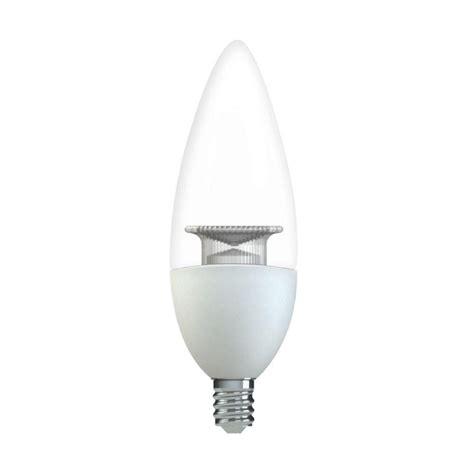 led light bulbs candelabra base 60w ge 60w equivalent soft white b11 blunt tip clear