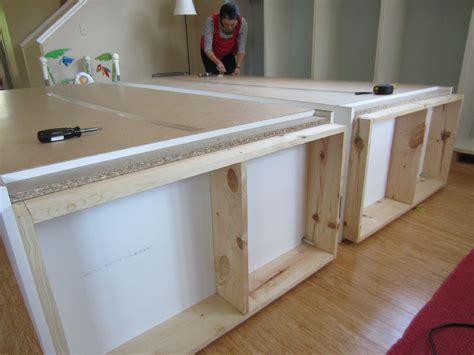 Custom Made Kitchen Cabinet Doors diy built ins using ikea besta shelves and pax wardrobes