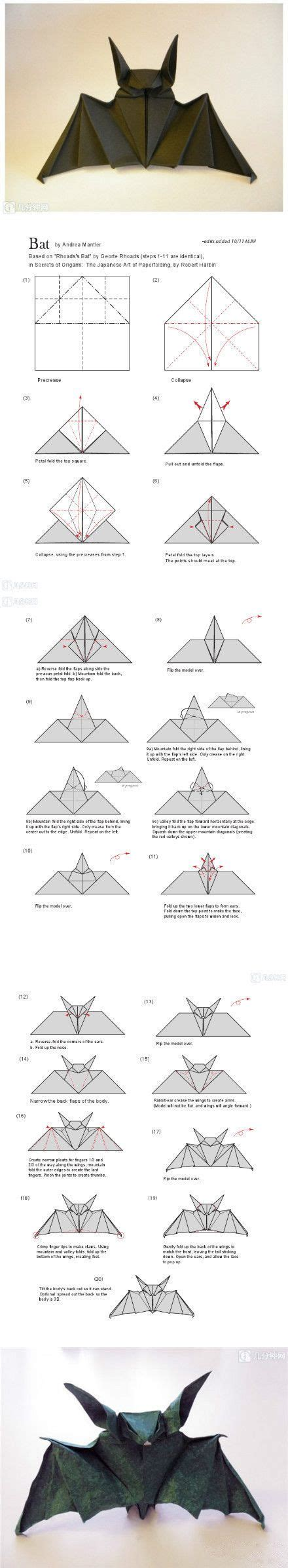 bat origami how to make an origami bat japan origami and kirigami