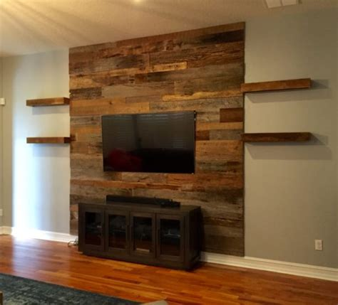 Sustainable Hardwood Flooring by Reclaimed Wood Accent Wall Wb Designs