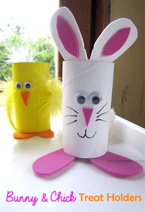 toilet paper easter bunny craft easter treat holders from cardboard