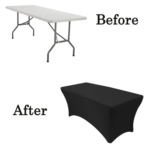 table covers 6 ft rectangular spandex table covers black wholesale