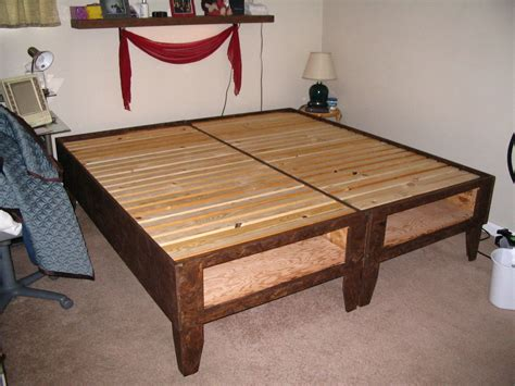 diy bed frame diy bed frame with storage bedroom ideas pictures