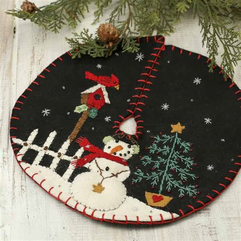 embroidered tree skirts small snowman embroidered tree skirt