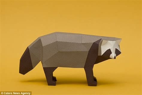 origami raccoon argentinian origami experts create range of