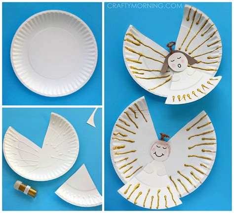 paper ornament crafts paper plate crafts for crafty morning