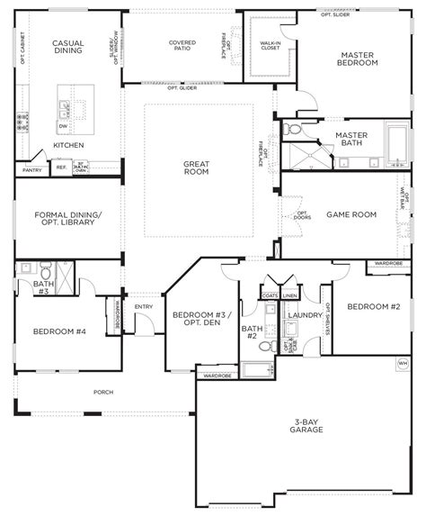 floor plans for homes one story this layout with rooms single story floor plans one story house plans pardee