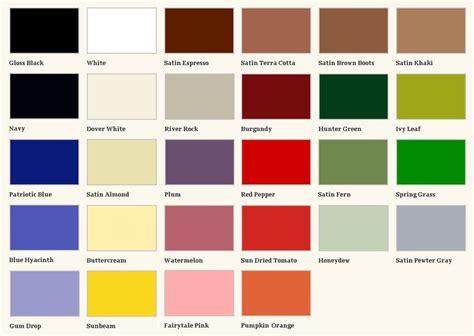 paint colors rustoleum rust oleum enamel paint color charts pilotproject org