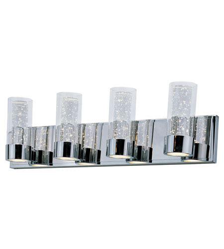 led bathroom vanity lights maxim lighting sync 8 light led bath vanity in polished chrome 20904clpc