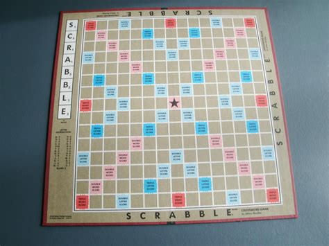 scrabble board scrabble board vintage 1990 by papercreationsbydeb on