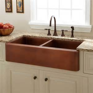 kitchen with copper sink 39 quot tamba bowl copper farmhouse sink kitchen