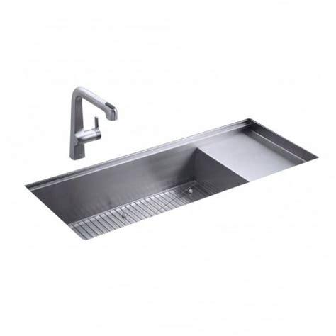 single bowl kitchen sink with drainer kohler stages single bowl and drainer undermount kitchen