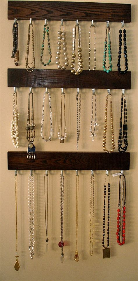how to make a hanging jewelry organizer hanging jewelry organizer home decorating diy
