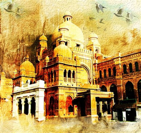 Home Decor Canvas Art lahore museum painting by catf