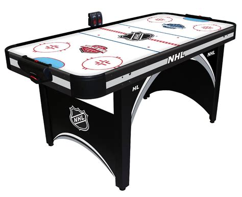 table hockey nhl 66in air powered hockey table with bonus table tennis